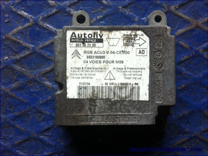 Partner airbag beyni 9653190880 - 603602500
