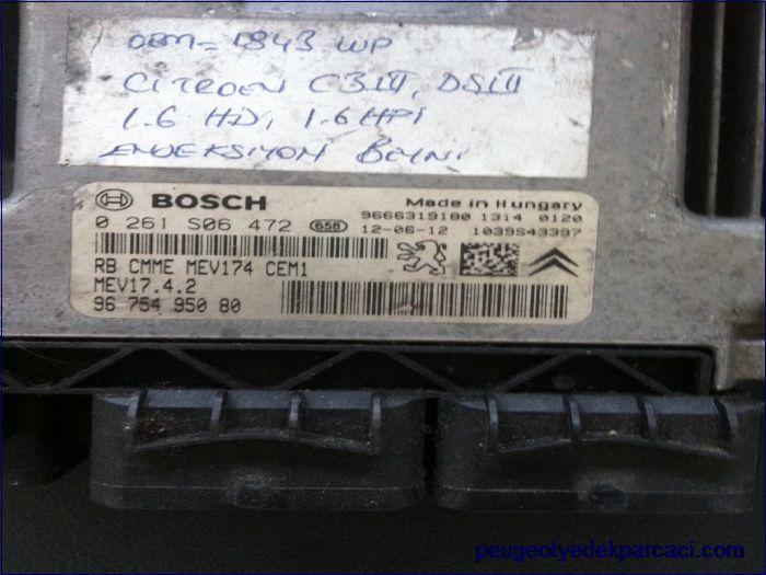 Peugeot 207 motor beyni 0261S06472 9675495080
