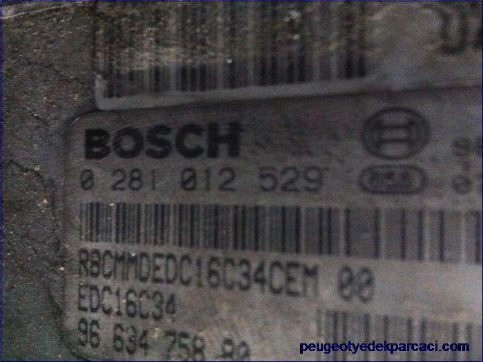 Peugeot 207 motor beyni 0281012529 9663475880