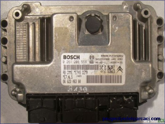 Peugeot 307 1.6 Motor Beyni 0261208558 - 9652552380