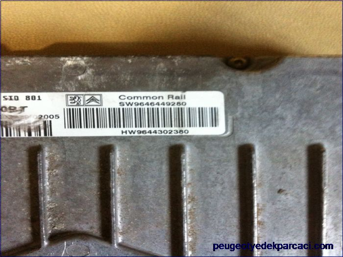 Peugeot 307 2.0 hdi motor beyni 9646449280