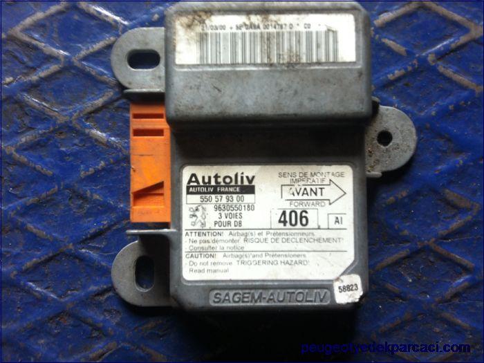 Peugeot 406 Airbag beyni 9630550180